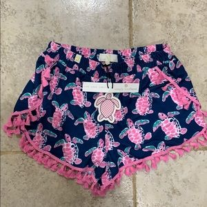 NWT Simply Southern Navy and Pink Turtle 🐢Shorts